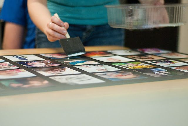 So easy all you need are pictures you want to use, foam core boards, and mod podge