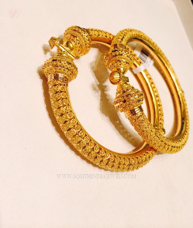 Gold Adjustable Bangle Designs, 22K Gold Adjustable Bangle Models, Adjustable Gold Bangle Collections.