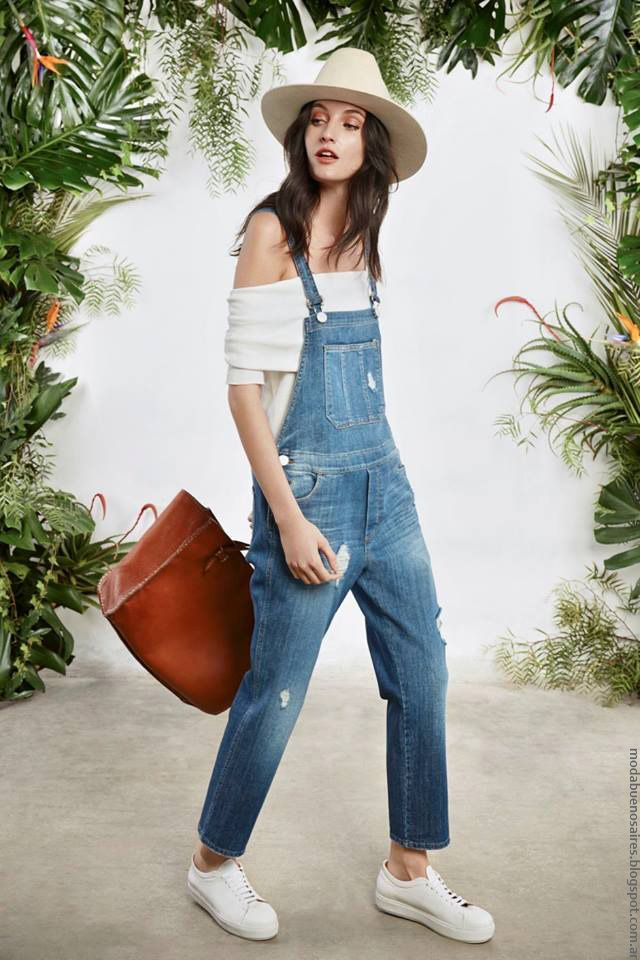 Enteritos de Jeans primavera verano 2017 mujer María Che moda Argentina.
