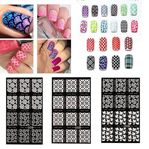 DANCINGNAIL Nail Sticker French Manicure Stickers New Designs Nail Art Stencils Vinyl Decal Stickers Manicure Tips Stamp Template JV215