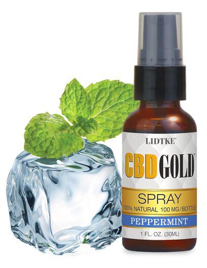 CBDGold - peppermint spray cbd oil (1 oz) (Derived from Industrial Hemp) #LIDTKE, #CBDGOLD, #CBD, #Hemp, #Oil