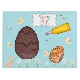Create your own Easter egg patterns with this kit and chocolate egg. Celebrate this Easter with our range of Easter eggs and chocolate. Choose from Easter eggs or smaller treats perfect for children and adults, and all at amazing value, every day! Find what's in your local store today!