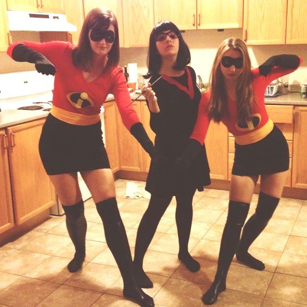 The Incredibles and Edna Mode | 29 Magical Disney Halloween Costume Ideas You Can Totally Steal