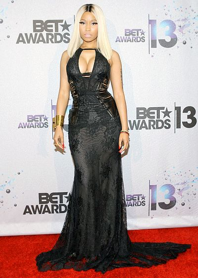 A rarity for me: Nicki Minaj looks really good in this Roberto Cavalli gown! #BETAwards2013