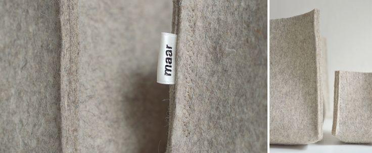 Корзина для хранения из натуральной шерсти