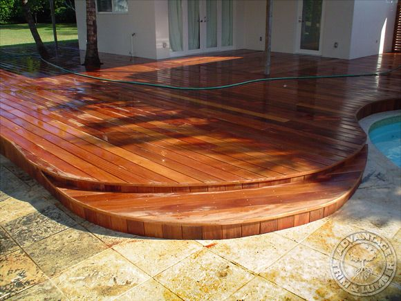 Check out this Kendall, Florida Cumaru deck and see why it is the ideal choice for your new outdoor oasis! AdvantageLumber.com ® #luxury #deck #beautiful #wood #lumber