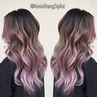 lilac balayage brown hair - Google Search                                                                                                                                                     More