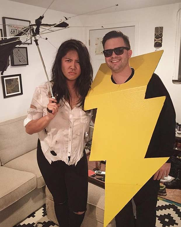 Struck by Lightning - Easy DIY Couples Halloween Costume