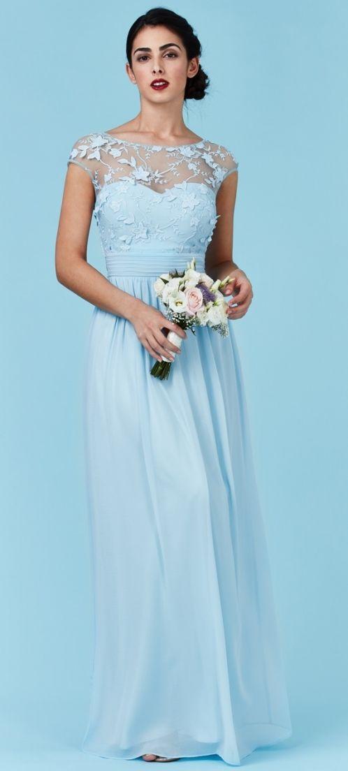 Společenské šaty Silmien, světle modré