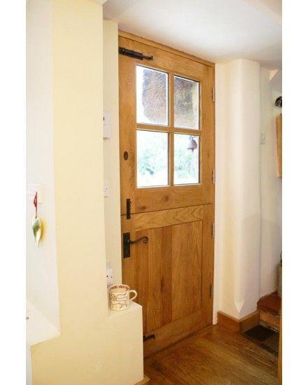 External 4 Panel Stable Solid Oak Door
