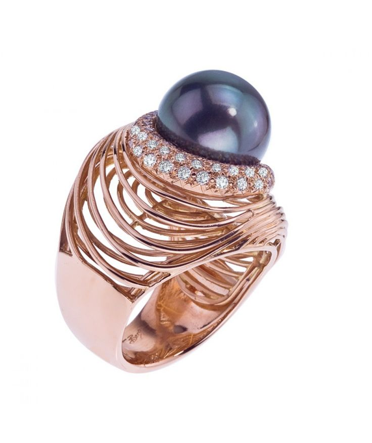 18kt Gold Tahitian Pearl Ring - Cocktail - Rings - Jewelry & Gifts
