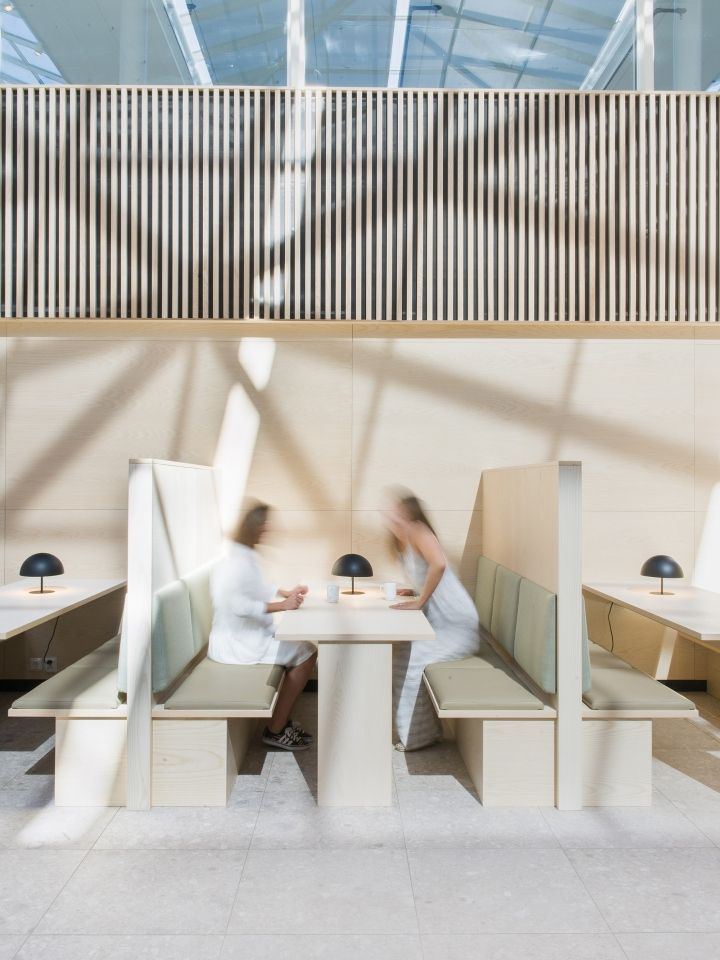 Lysakerbuen Office Public Areas Canteen By ZINC Lysaker Norway Retail Design Blog