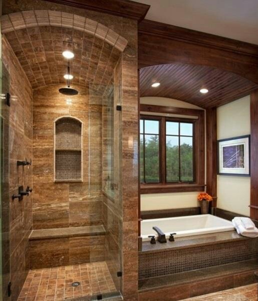 Bath and shower set up