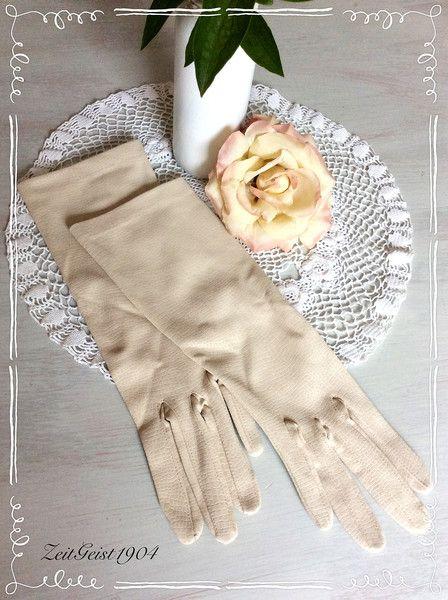 Vintage Handschuhe - Vintage, Shabby Damen Handschuhe, Hochzeit, Ball,  - ein Designerstück von Zeitgeist1904 bei DaWanda