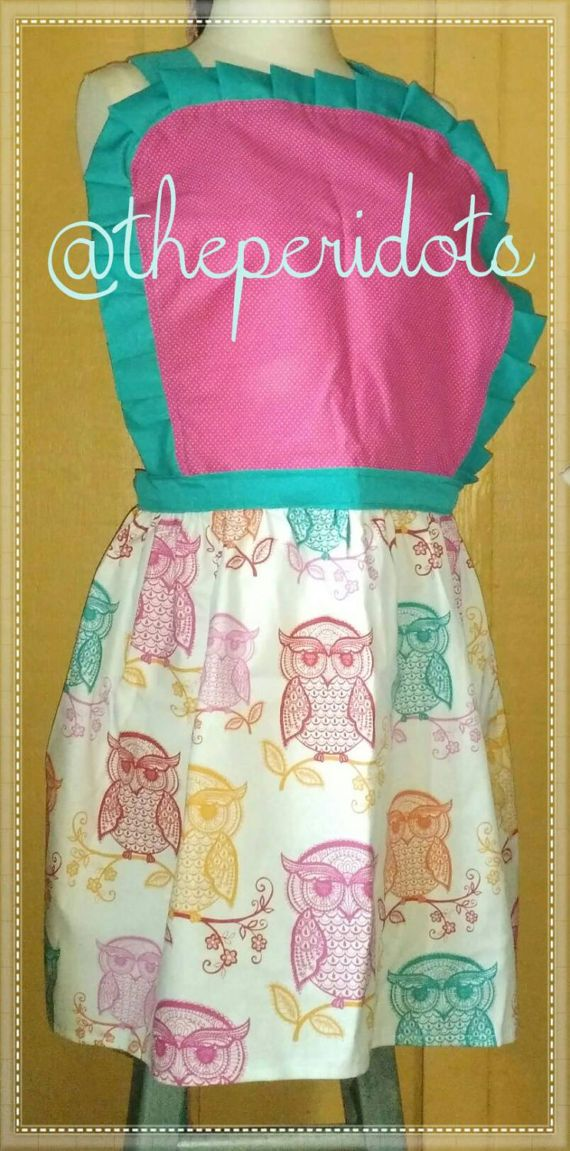 Check out this item in my Etsy shop https://www.etsy.com/listing/496600746/new-wise-owls-iii-bibbed-apron
