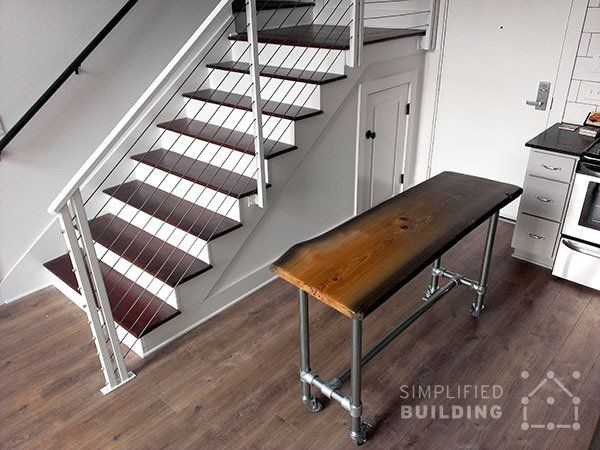 DIY Rolling Kitchen Island With Live Edge Table Top  Http://www.simplifiedbuilding