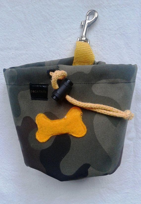 Camouflage dog treat bag by DoGATAilla on Etsy
