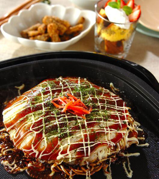 「広島焼き風お好み焼き」の献立・レシピ - 【E・レシピ】料理のプロが作る簡単レシピ/2012.05.12公開の献立です。