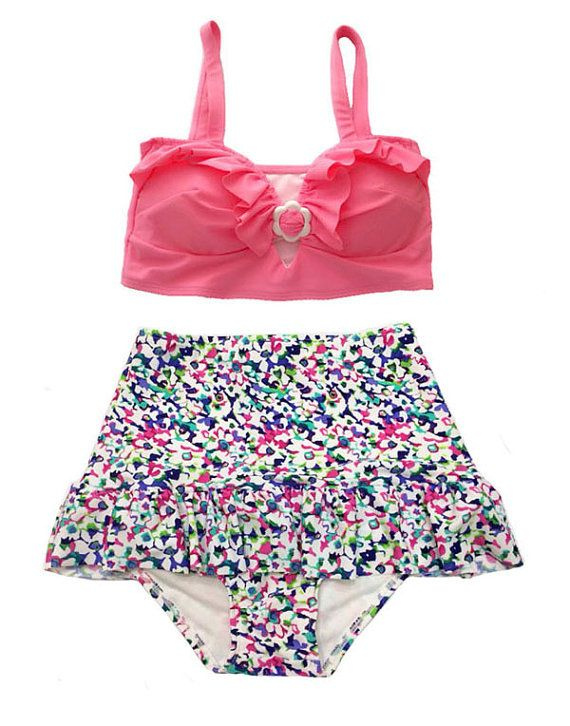 Pink Top and Flora Floral Flower High Waist Waisted by venderstore, $39.99