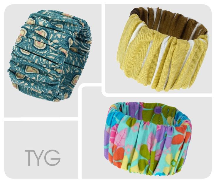 Ich liebe diese Armbänder aus Stoff - passend zu jedem Outfit :-)