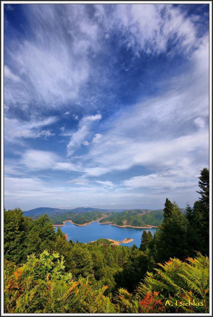 Plastiras Lake in Karditsa_ Greece