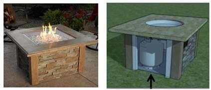 DIY Gas Fire Pit Table - Bing Images