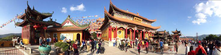 At a Buddhist temple just outside Zhuhai, China