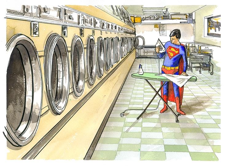 Superman Laundromat