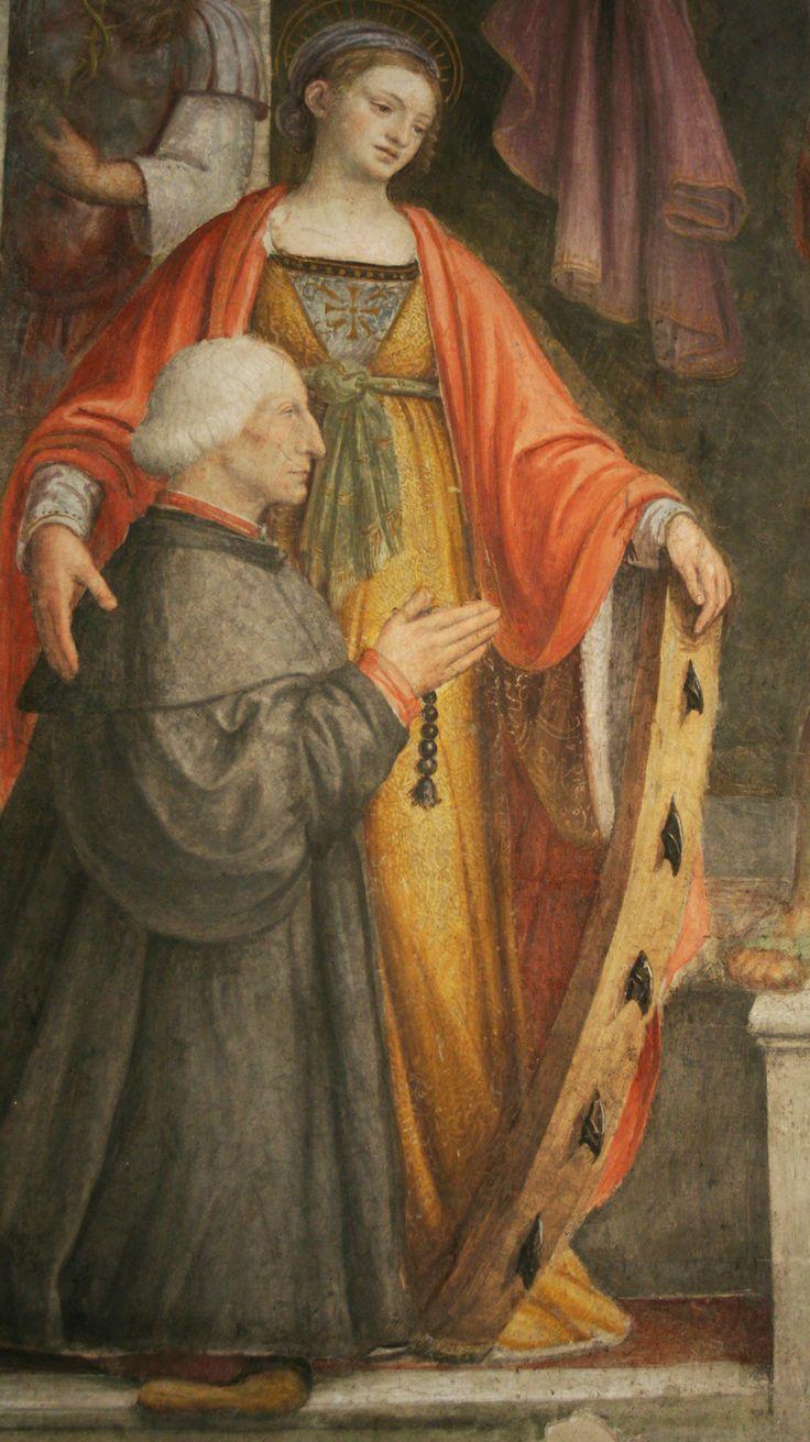 Bernardino Luini, Saint Catherine and Francesco Besozzi, from the Besozzi chapel, San Maurizio al Monastero Maggiore, Milan.