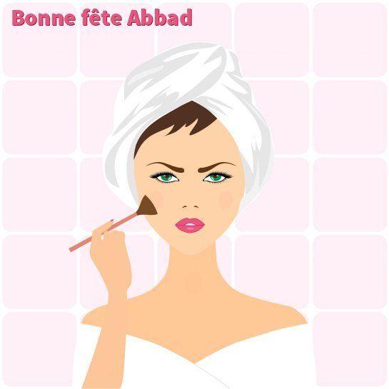 Maquillage : carte virtuelle bonne fête Abbad