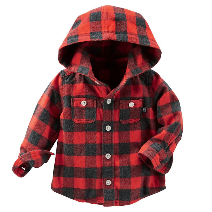 OshKosh B'gosh® Hooded Flannel Shirt - Baby Boy