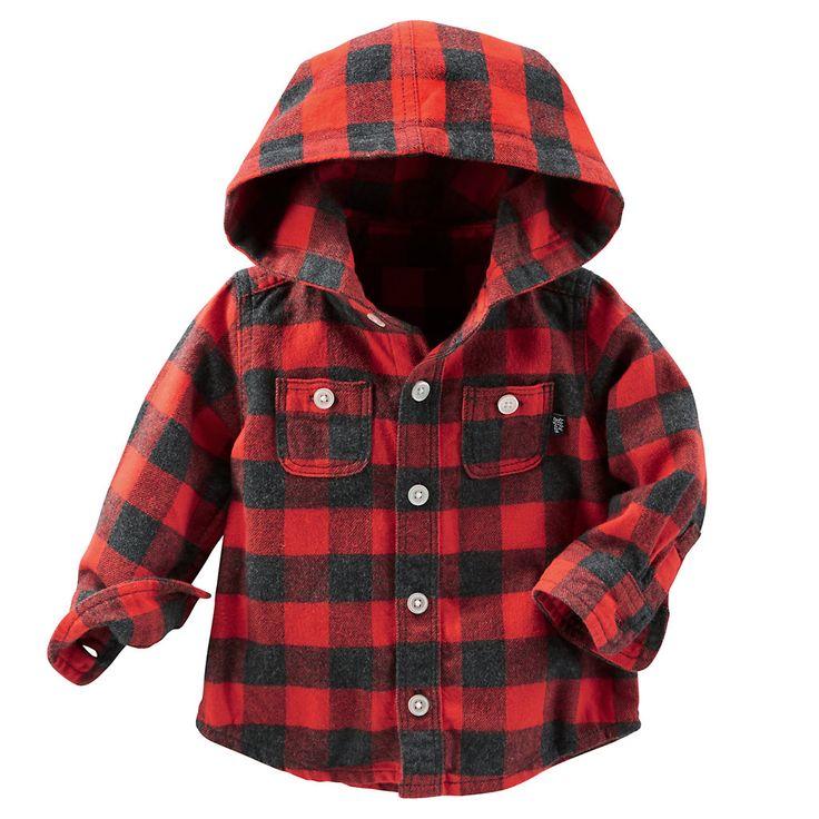 OshKosh B'gosh® Hooded Flannel Shirt - Baby Boy