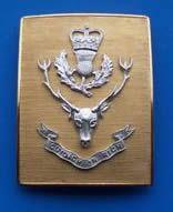 The Queens Own Highlander's officer's Shoulder Belt Plate.