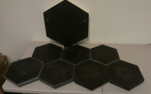 Lot of 8 Vintage Simmons SDS Drum Pads electronic drum pad lot - http://musical-instruments.goshoppins.com/percussion/lot-of-8-vintage-simmons-sds-drum-pads-electronic-drum-pad-lot/
