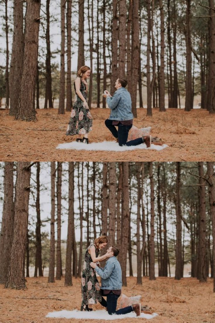 So obsessed with this proposal in the woods!