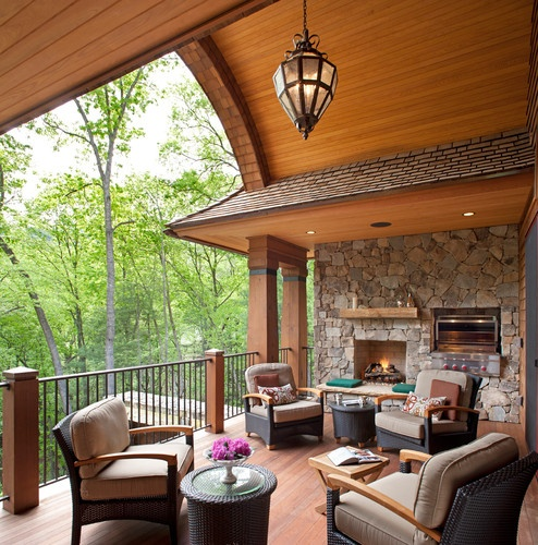 Beautiful Porch with wooded view