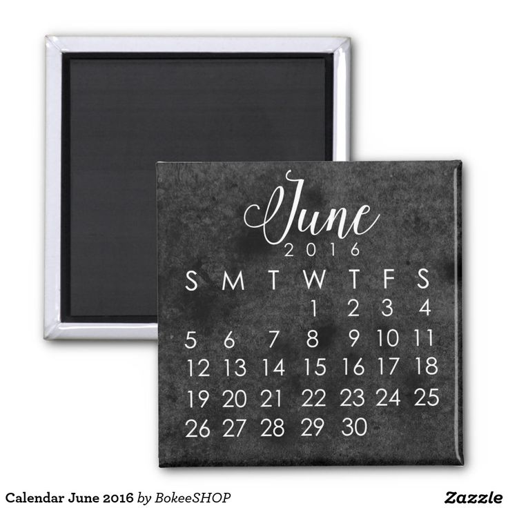 Calendar June 2016 2 Inch Square Magnet. >>>  Shape: Square Magnet Make…