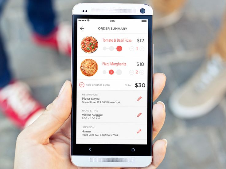 Pizza delivery iOS app
