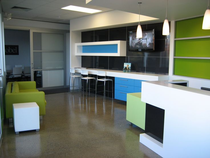 Commercial fitout in Adelaide.  Great example of our skills in: architecture, interior design, contemporary design, custom joinery, floorplans, office design, reception desk design, spatial planning and brand integration with interior design.