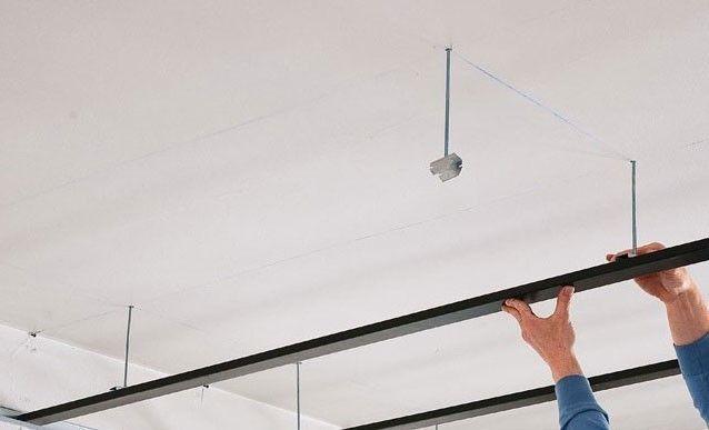 Les 25 meilleures id es de la cat gorie rail rideau sur for Rail faux plafond suspendu