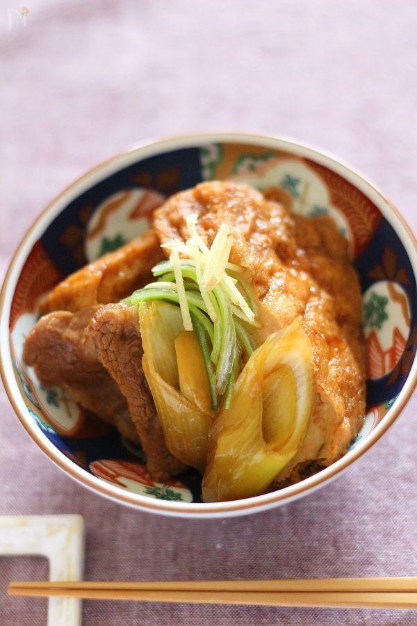 南九州の甘い濃い口しょうゆを使って、厚揚げと牛肉を煮込みました。7    15分で作れる  1人197kcalの副菜です。
