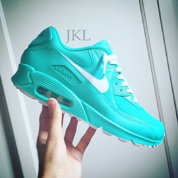 Tiffany Nike Air Max unisex, Gift Box Blue, Air Max 90 tiffany, Mens and Womens Tiffany blue.