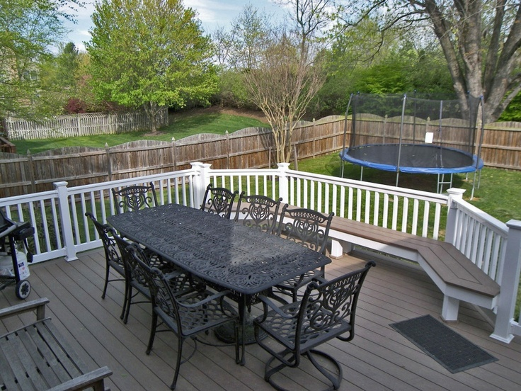 Amazing Azek Vinyl Flooring And #deck Bench, And White PVC Railing.
