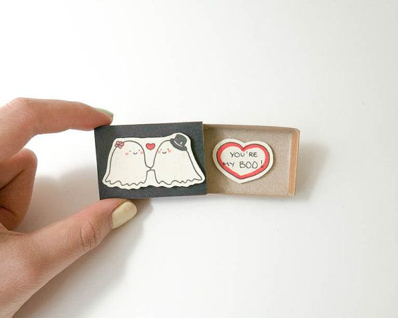 Funny Halloween Card/ You're my Boo Card/ Ghost Card/ Halloween Card/ Funny Love Card for Food Lovers/ Anniversary Card/ Matchbox