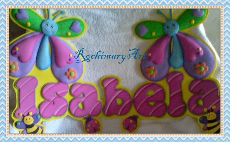 letrero elaborados en foamy