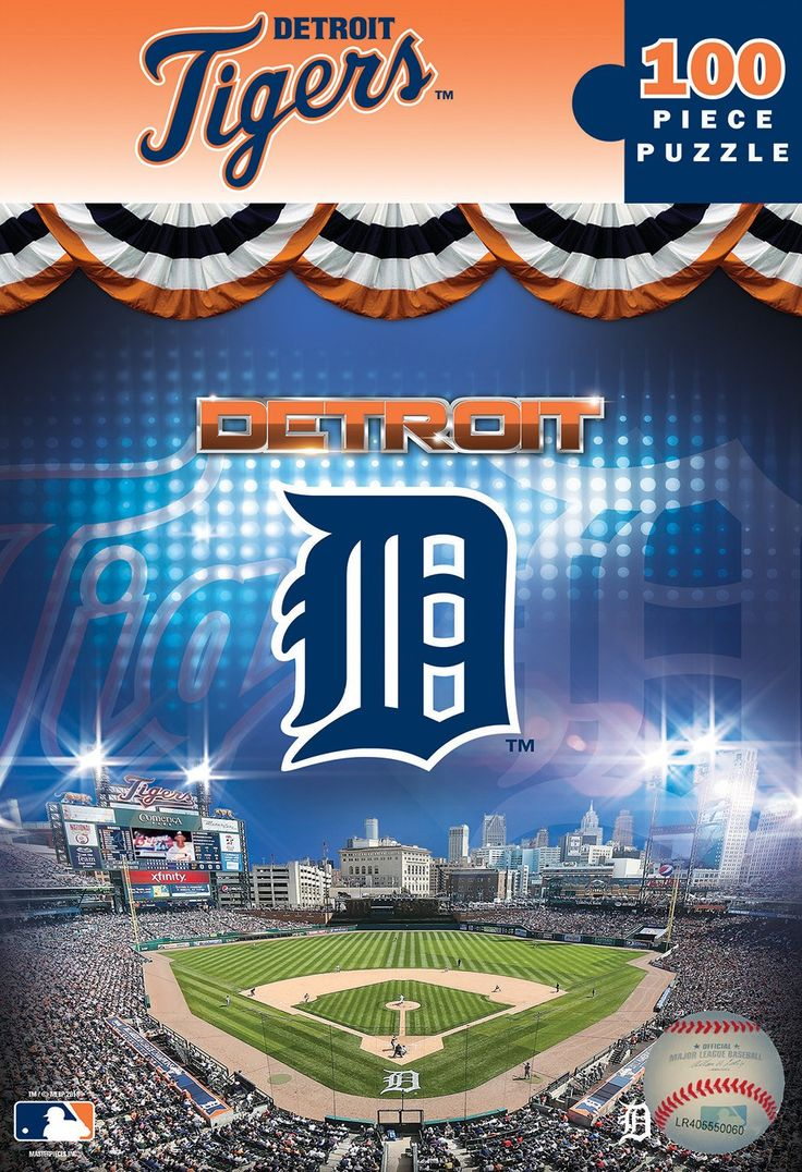 MLB Detroit Tigers - 100 Piece Jigsaw Puzzle (box)