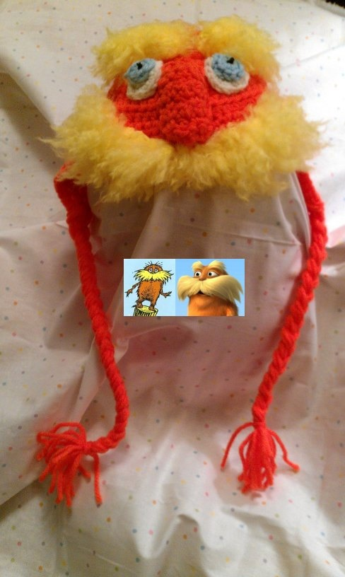 The Lorax Inspired by Dr Suess Hat for Baby  by ConnMorCreations, $24.00