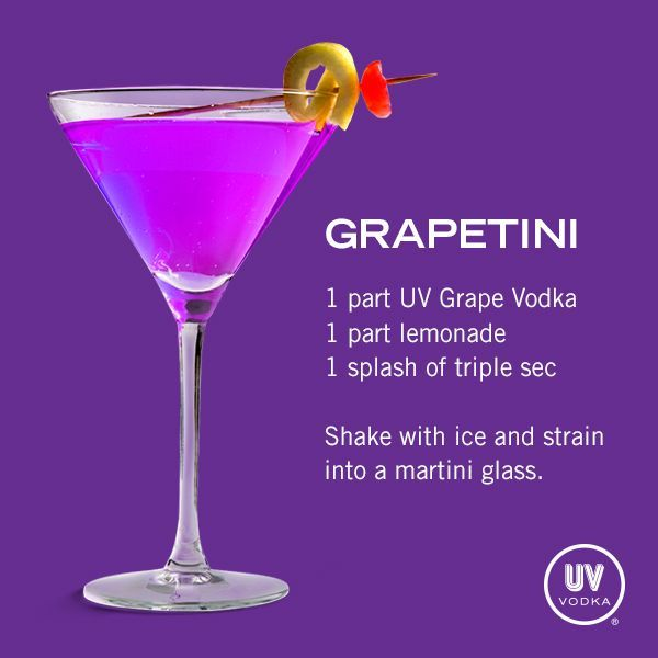 UV Vodka Recipe: Grapetini