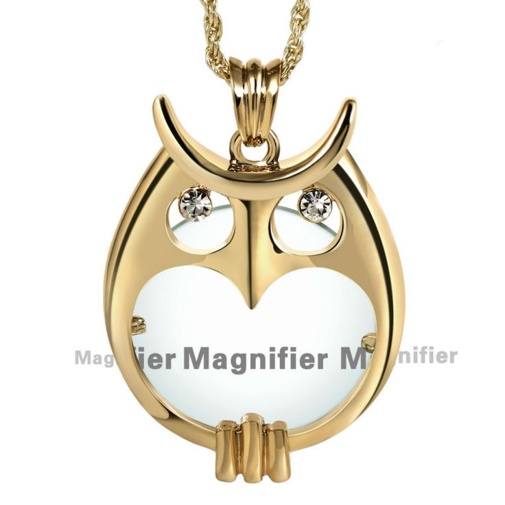 DC1989 Necklaces & Pendants 2X Zoom Magnifier Lens Library Reading Rhodium or Gold Plated Gift for Mum Colar de pingente de lupa