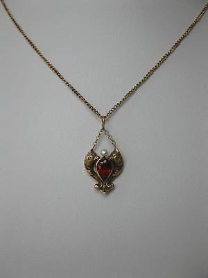 Phoenix Griffin Dragon Citrine Pendant Necklace Antique 14K c1890 Belle Epoque 5